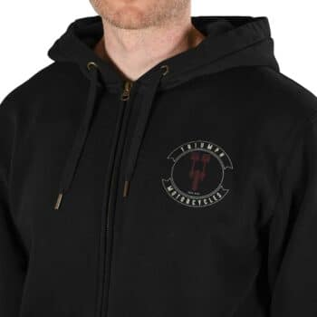 Triumph Piston Zip Up Hoodie - Black